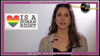 Ehe für alle – Eine Frage des Anstands. Kommentar von Elena Gugliuzzo