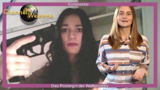 Das Postergirl der deutschen Waffenlobby. Kommentar von Bianca Beer