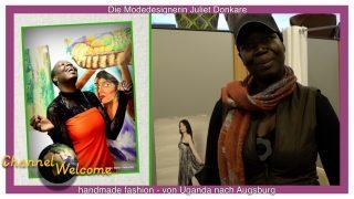 Die Modedesignerin Juliet Donkare- handmade fashion von Uganda nach Augsburg