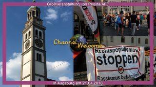 Großveranstaltung von Pegida und AfD  mit 8 Teilnehmern am 21.04.2018 in Augsburg
