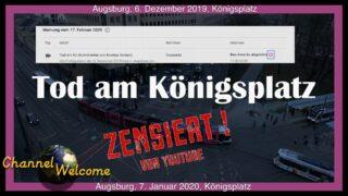 Tod am Königsplatz in Augsburg